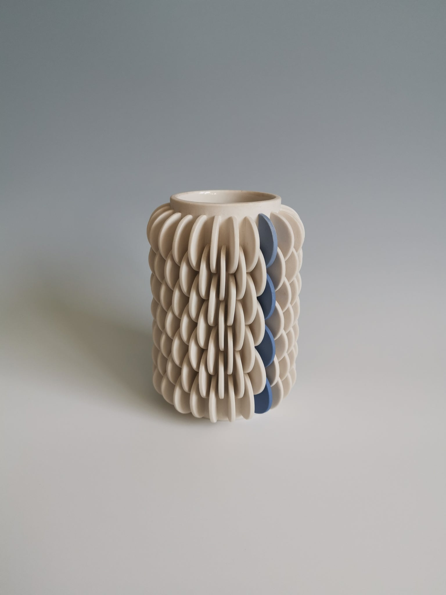 Vase with Blue Gradient