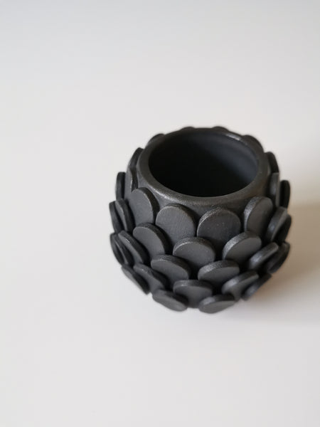 Small Black Teardrop Vessel