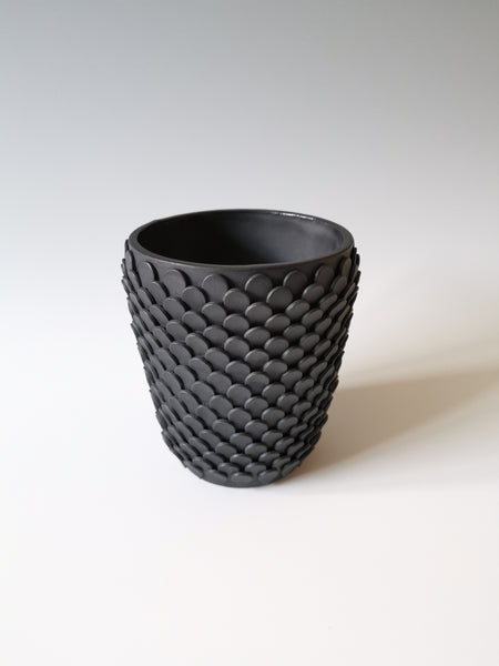 Large Black Petal Vessel