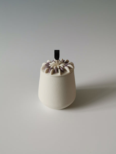 Small Purple Lidded Vessel