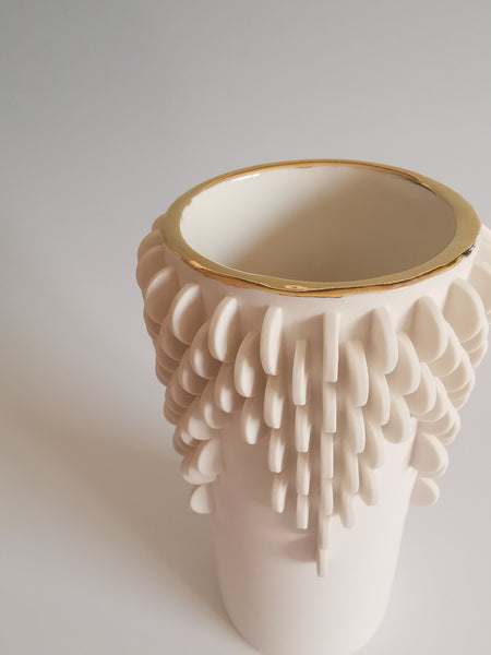Medium Vase with Gold