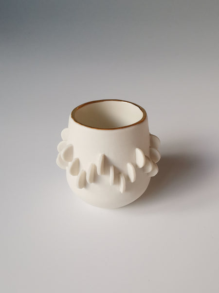 Small Wiggle Vessel with Gold