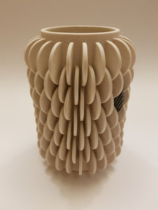 Vase with Single Patterned Disk