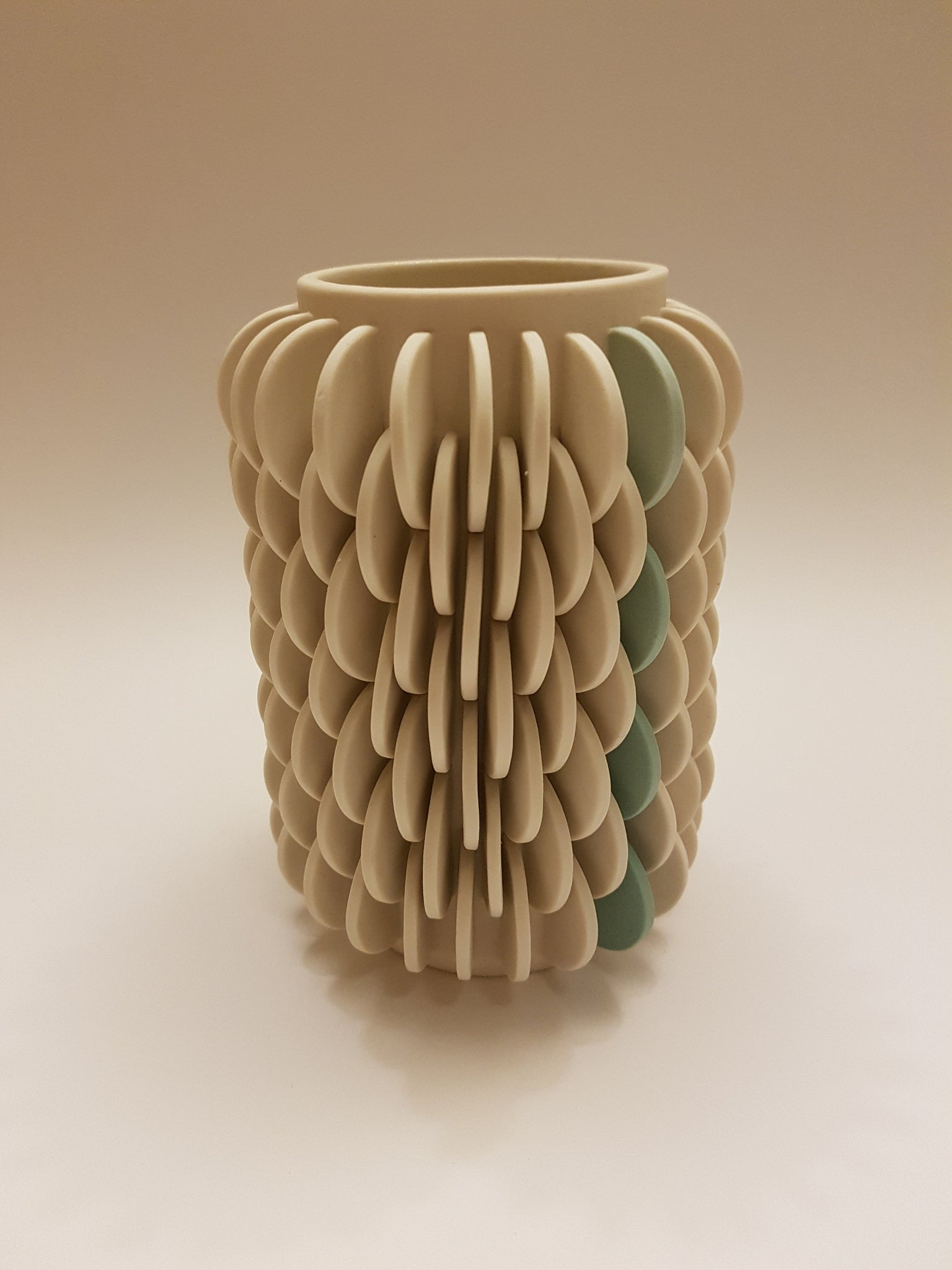 Vase with Green Strip