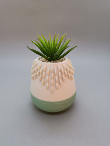 Artificial Succulent in Pot with Green Base