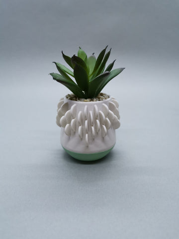 Artificial Succulent in a Pot with Green Base