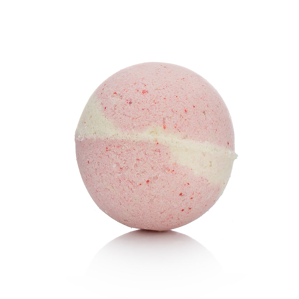 cherry blossom bath bomb, cherry bath bomb, avocado oil, cocoa butter, shea butter, kokum butter, mango butter, bath bomb, shower, bath and body, aromatherapy, handmade bath bomb