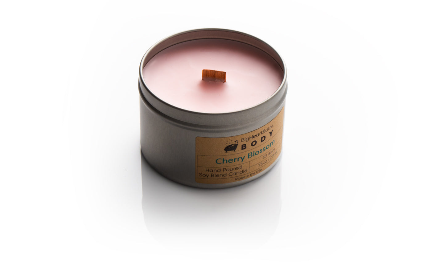 candle, wood wick candle, wooden wick candle, wood wick, scented candle, cherry blossom candle, soy candle, clean burn candle, cherry candle