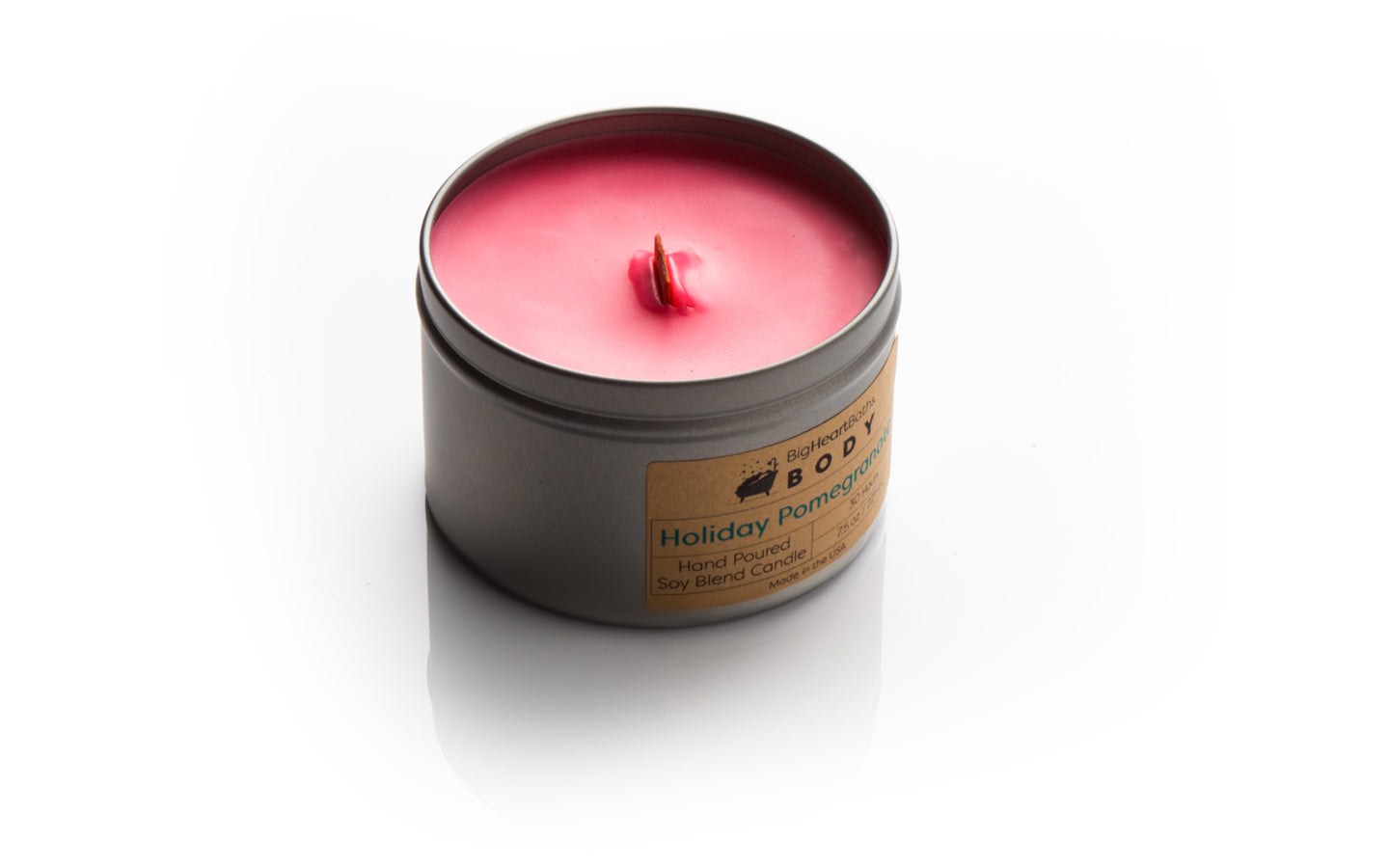 candle, wood wick candle, wooden wick candle, wood wick, scented candle, pomegranate candle, holiday pomegranate candle, soy candle, clean burn candle