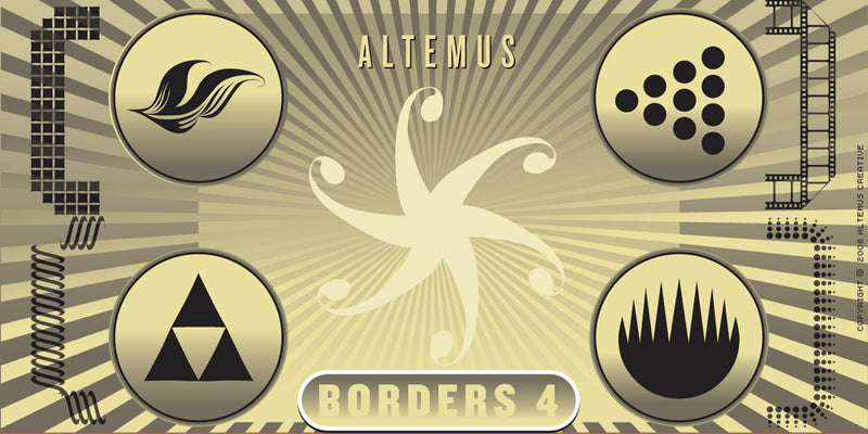 BORDERS & RULES COMBO SET: 11 Fonts + 1,100 Vector Designs