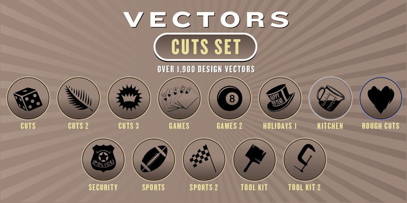 CUTS VECTORS SET: 1,900 Designs