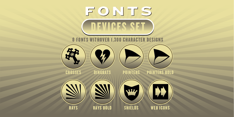 DEVICES FONT SET: 8 Fonts - altemusfonts