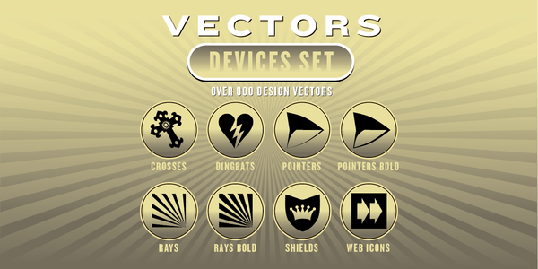 DEVICES VECTORS SET: 800 Designs - altemusfonts