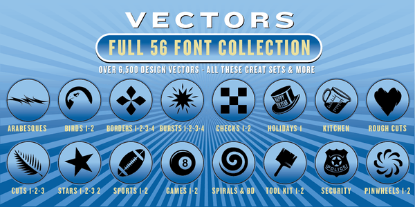 FULL COLLECTION VECTORS SET: 6,500 Designs