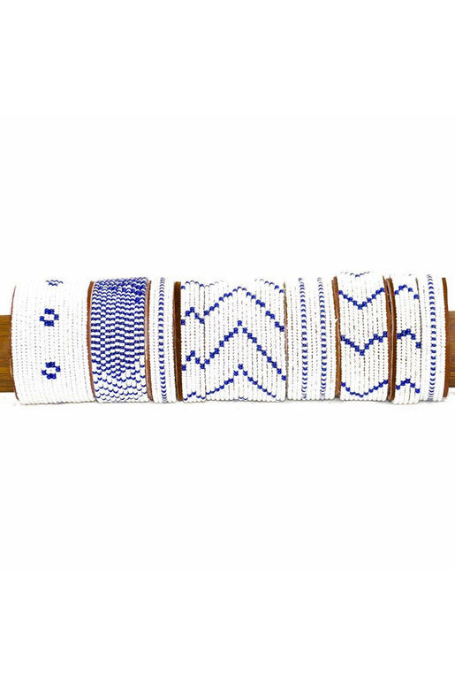 Swahili Coast Swahili Coast - Dark Blue Cuff Collection White Smoke
