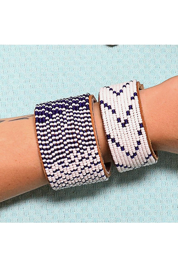 Swahili Coast Swahili Coast - Dark Blue Cuff Collection Lavender