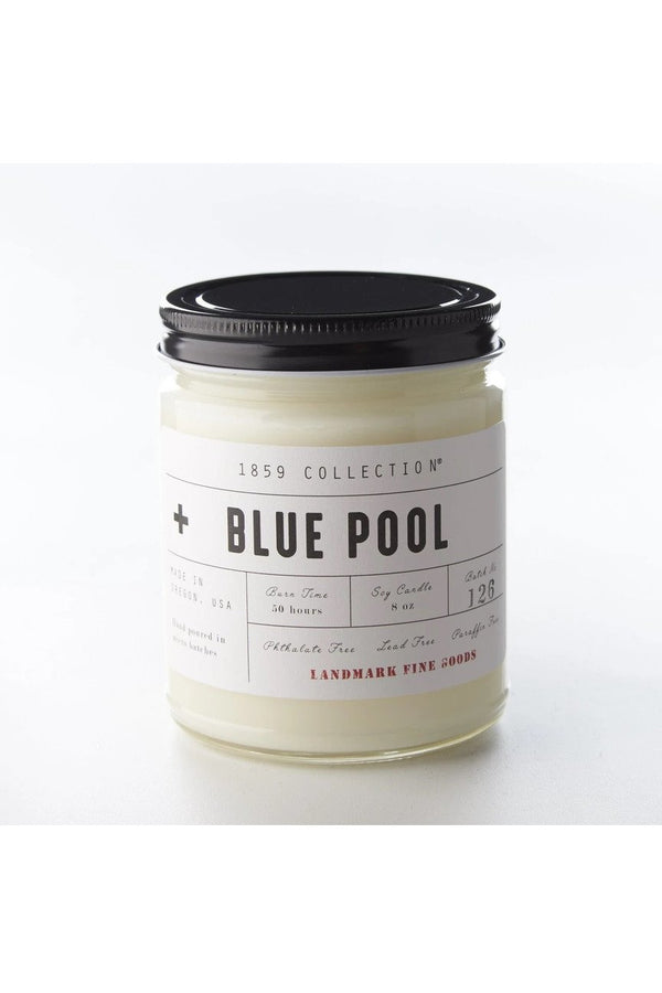 Landmark Fine Goods 1859 Collection - Blue Pool Candle Dark Gray
