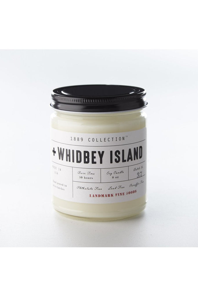 Landmark Fine Goods 1889 Collection - Whidbey Island Candle Dark Gray