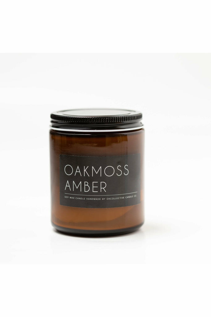 OK Collective Candle Co. OK Candle Co. - Oakmoss Amber Soy Candle - 8 oz. Saddle Brown