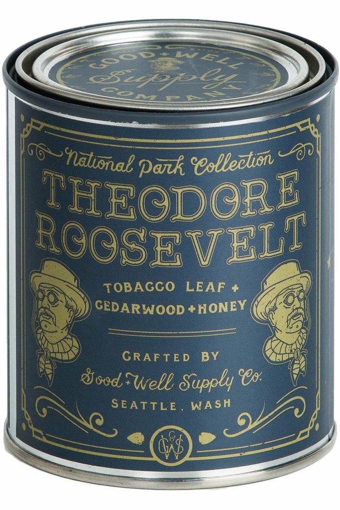 Good & Well Supply Co. Good & Well - Theodore Roosevelt Candle - Tobacco, Cedar & Honey Dark Slate Gray