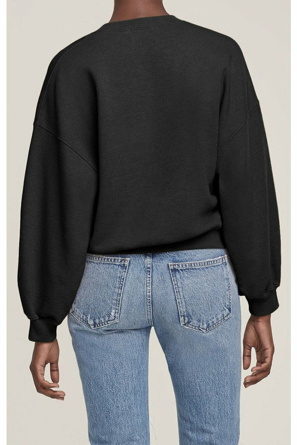 AGOLDE AGOLDE - Balloon Sleeve Sweatshirt - Beltway Dark Slate Gray