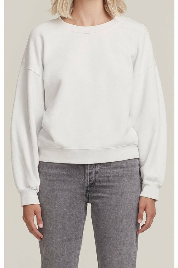 AGOLDE AGOLDE - Balloon Sleeve Sweatshirt - Paper Mache Antique White