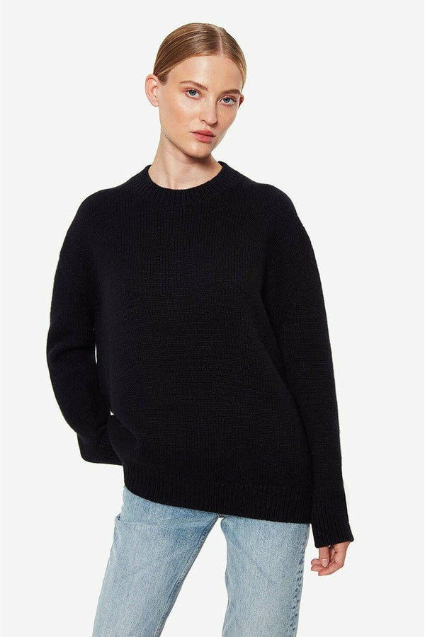 ANINE BING Anine Bing - Rosie Sweater - Black White Smoke