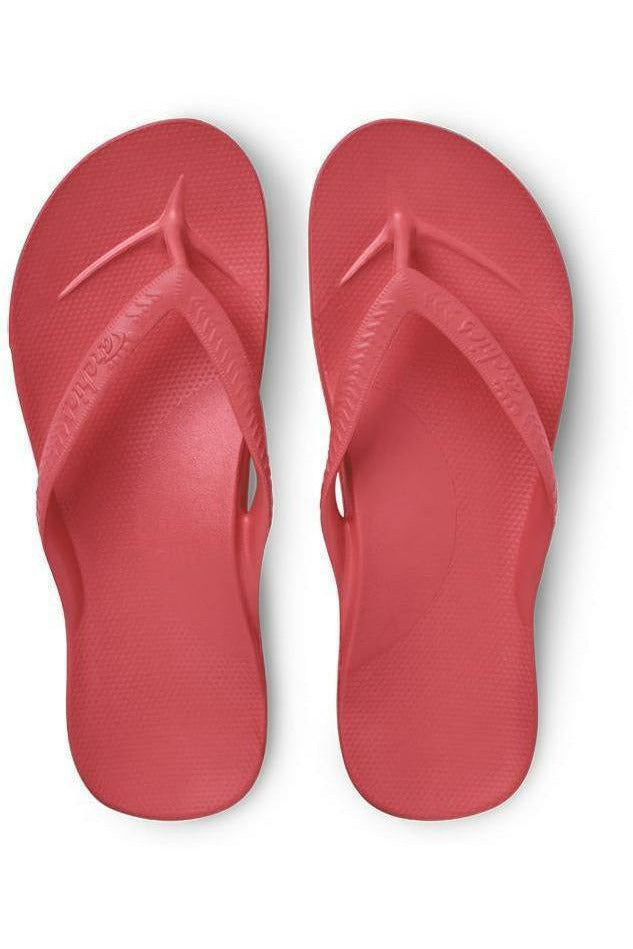 Archies Archies - Arch Support Flip Flops - Coral Maroon