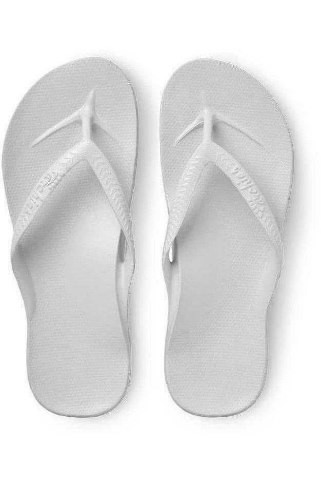 Archies Archies - Arch Support Flip Flops - White Gray