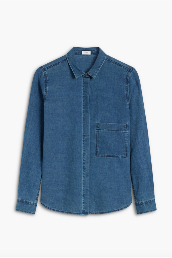 Closed Closed - Denim Shirt - Blue Dark Slate Blue
