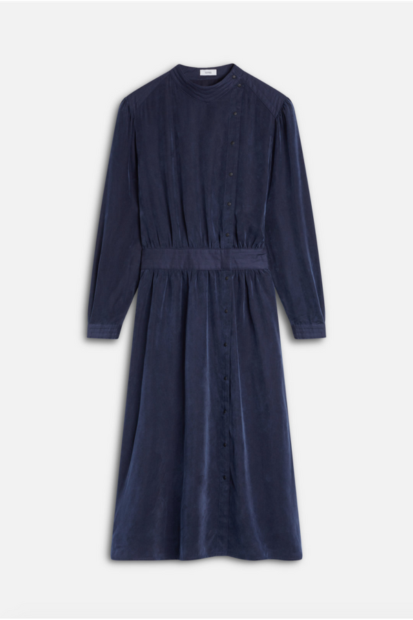 Closed Closed - Ilenia Dress - Navy Dark Slate Gray