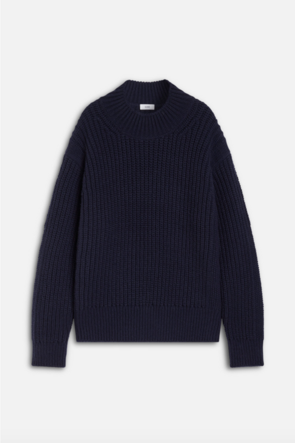 Closed Closed - Heavy Knit Sweater - Navy Black