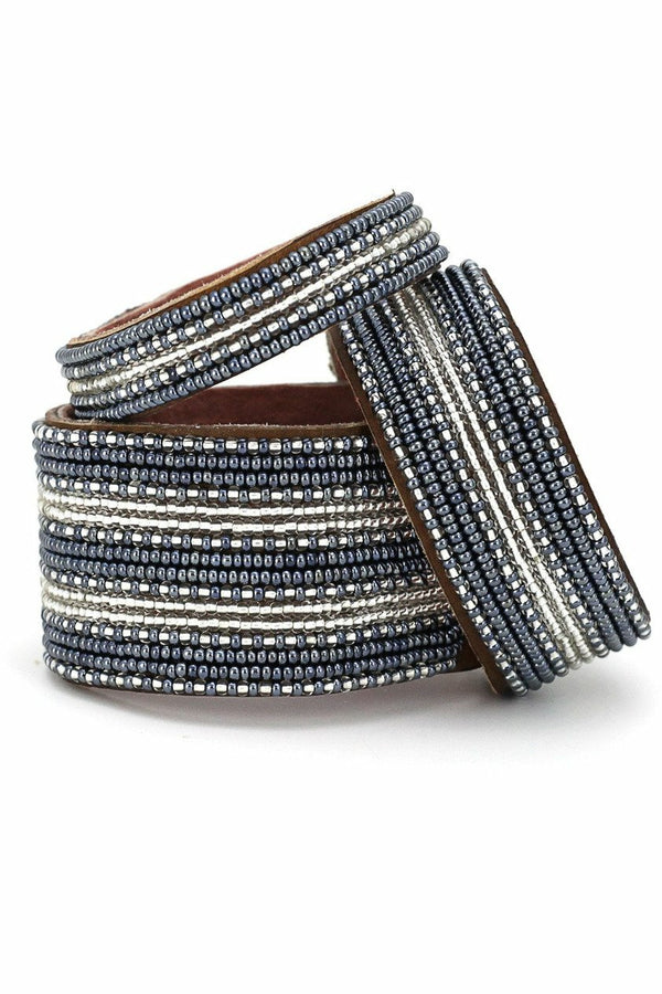 Swahili Coast Swahili Coast - Striped Slate Cuff Collection Dark Slate Gray