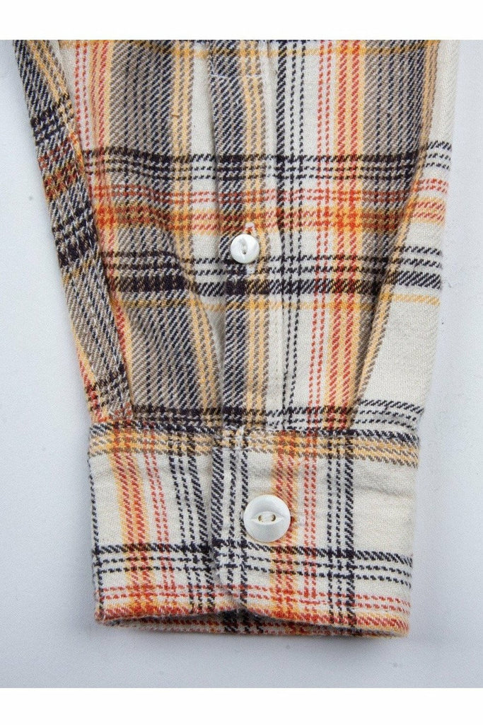 Freenote Cloth Freenote Cloth - Jepson Woven Shirt - Cream Plaid Rosy Brown
