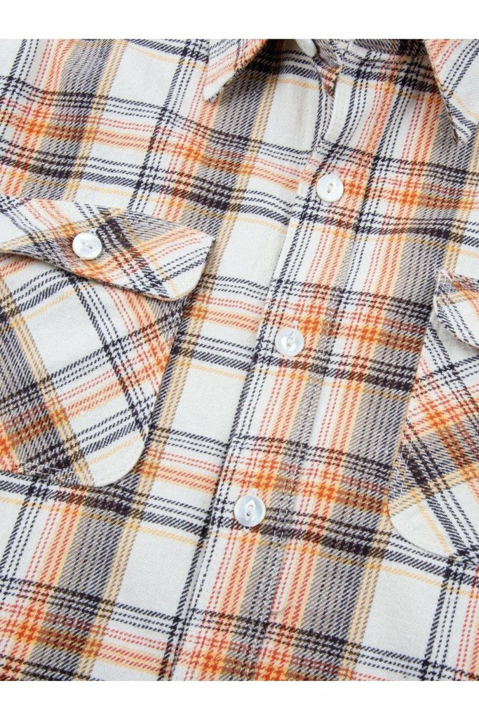 Freenote Cloth Freenote Cloth - Jepson Woven Shirt - Cream Plaid Tan