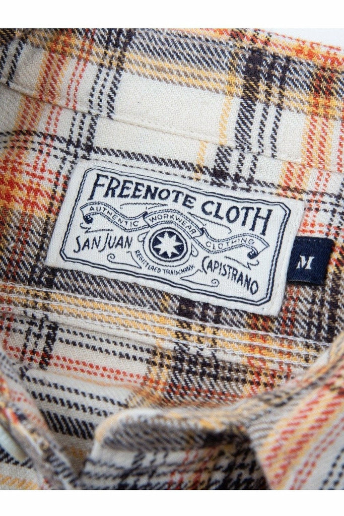 Freenote Cloth Freenote Cloth - Jepson Woven Shirt - Cream Plaid Lavender