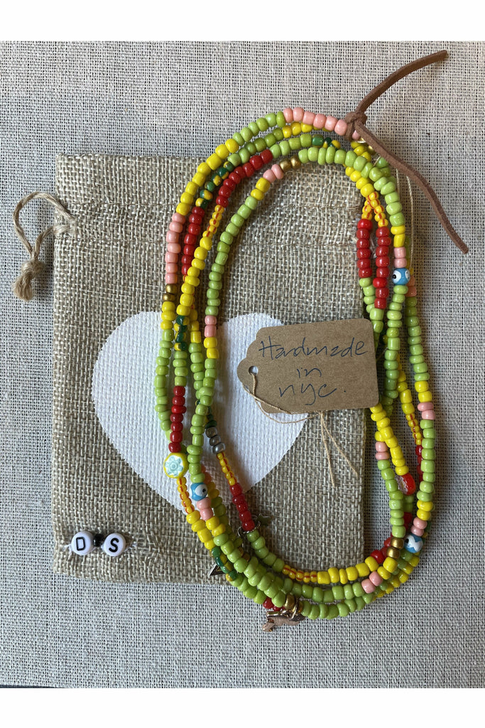 Dune and Salt D+S - Japanese Seed Double Necklaces - Assorted Dim Gray