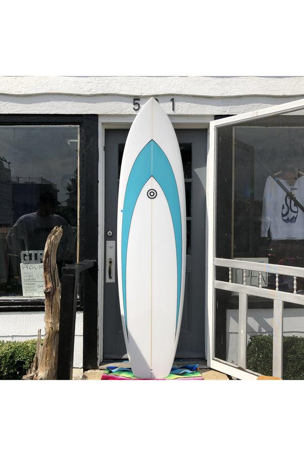 "Fowler Surfboards Fowler Surfboards - 7' 4"" New Machine - Aqua Cadet Blue"