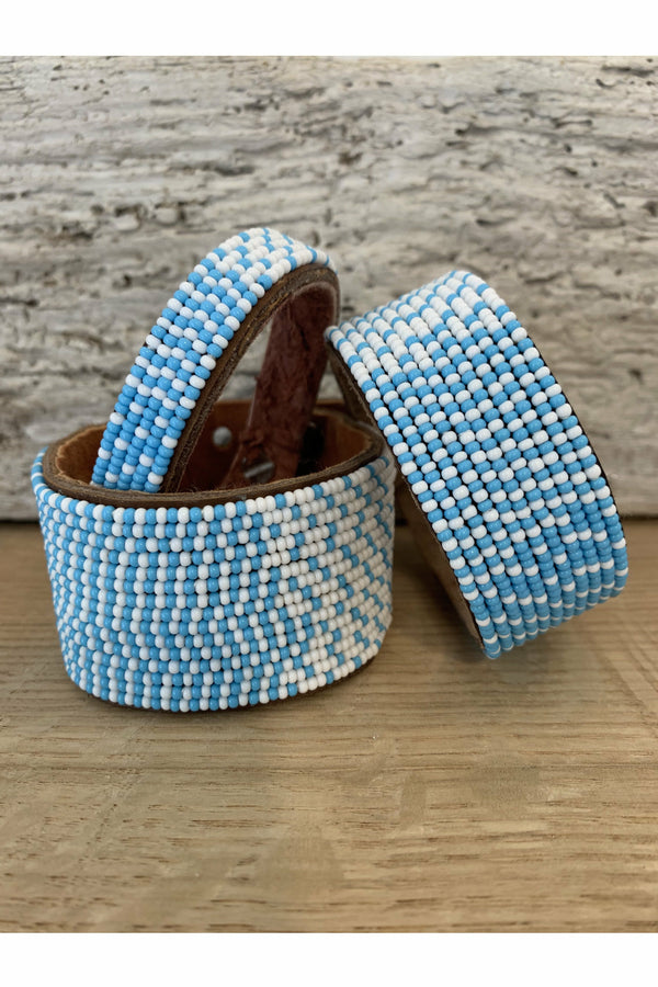 Swahili Coast Swahili Coast - Ombre Light Blue/White Cuff Slate Gray