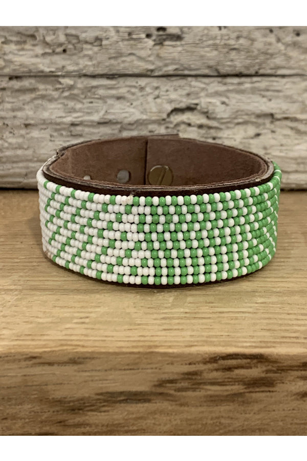 Swahili Coast Swahili Coast - Green Ombre Cuff Dark Sea Green