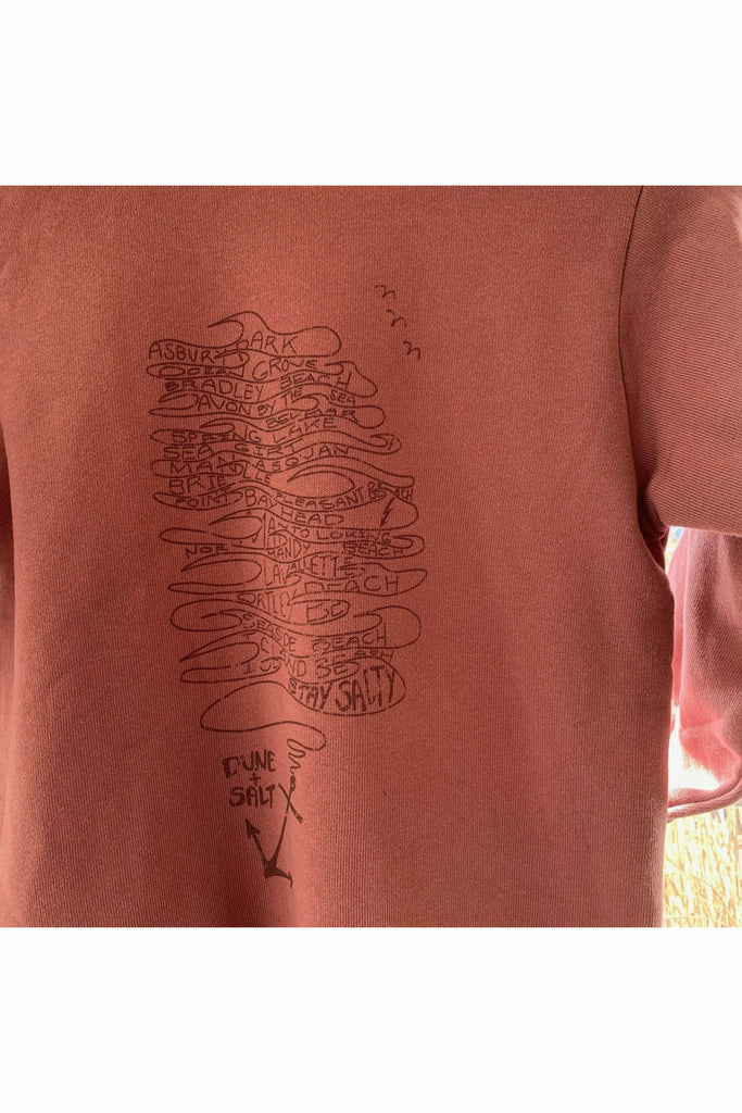 Dune and Salt D+S - Youth HOTB Coastal Towns Hood - Nantucket Red White