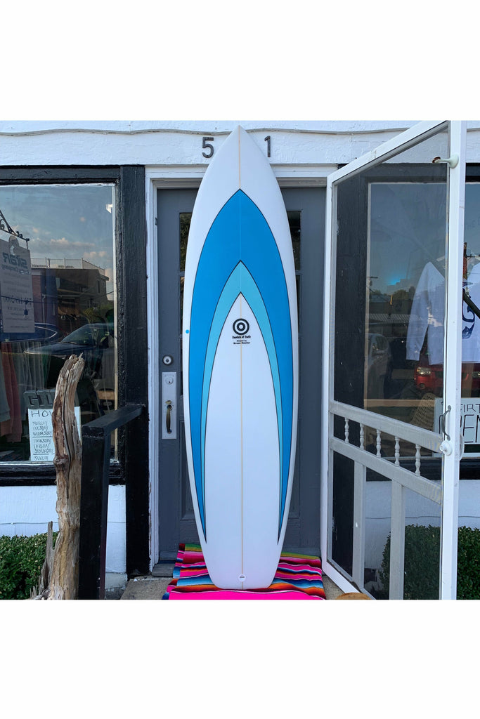 "Fowler Surfboards Bruce Fowler - 7' 6"" New Machine - Two Tone Blue Dodger Blue"