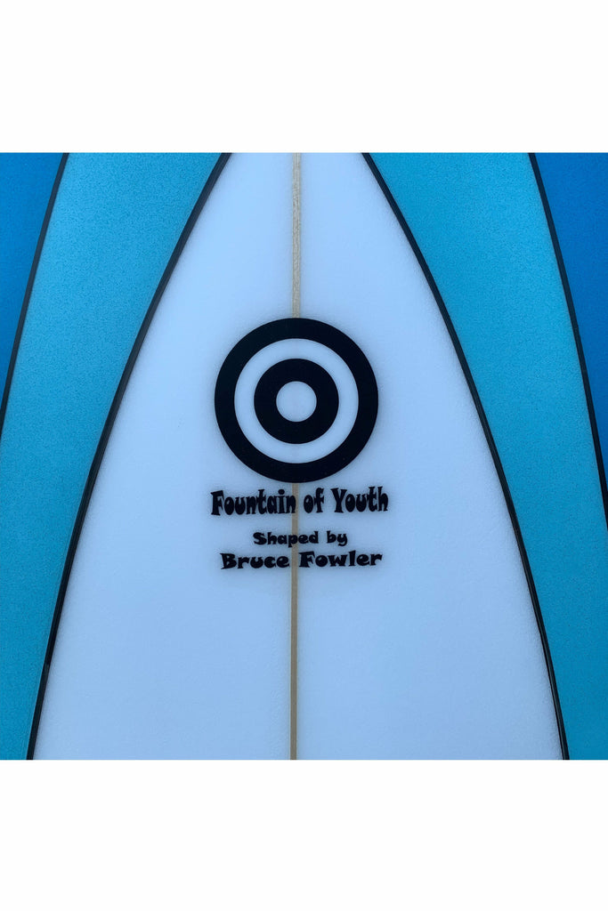 "Fowler Surfboards Bruce Fowler - 7' 6"" New Machine - Two Tone Blue Sky Blue"