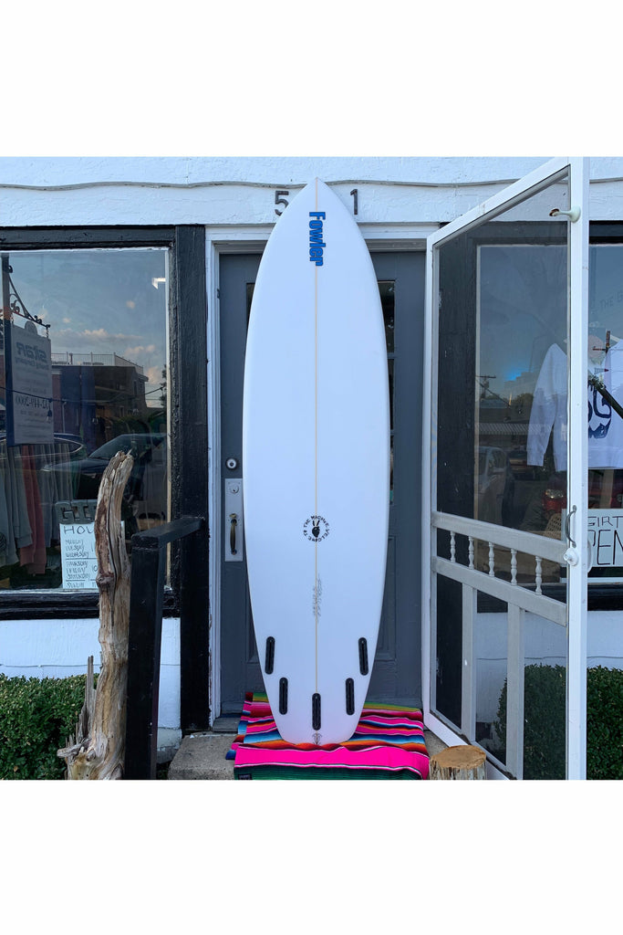 "Fowler Surfboards Bruce Fowler - 7' 6"" New Machine - Two Tone Blue Light Blue"