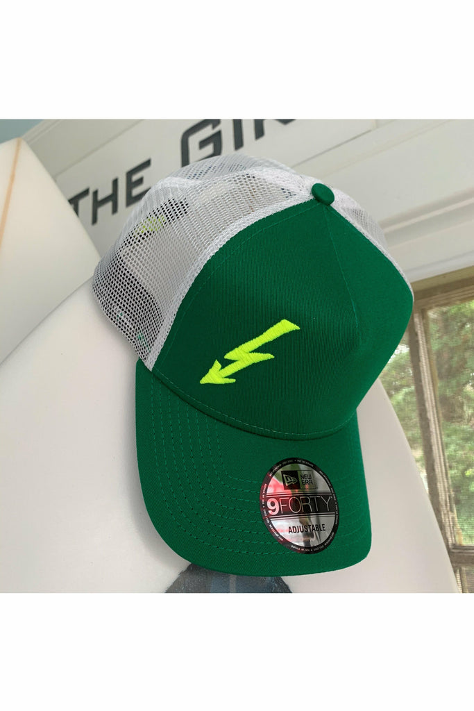 The Girt The Girt - Bolt New Era Trucker Hat Dark Green