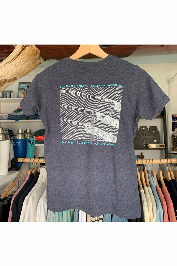The Girt The Girt - Youth Summer Rollers Tee - Heather Navy Dim Gray