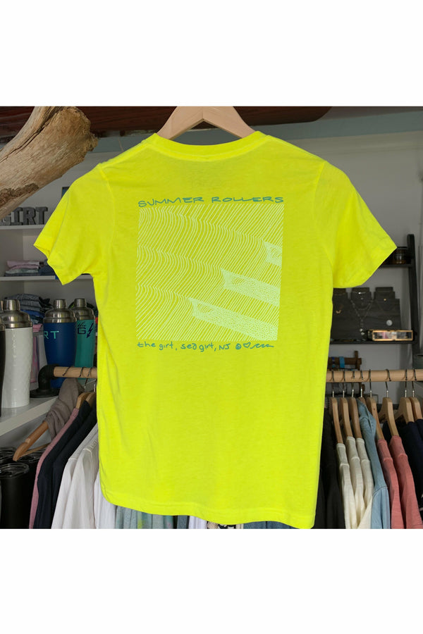 The Girt The Girt - Youth Summer Rollers Tee - Neon Yellow Yellow Green