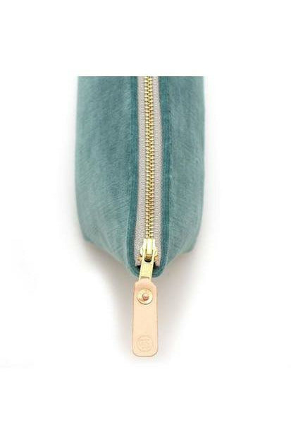 General Knot General Knot - Travel Clutch - Sea Glass Velvet Light Slate Gray