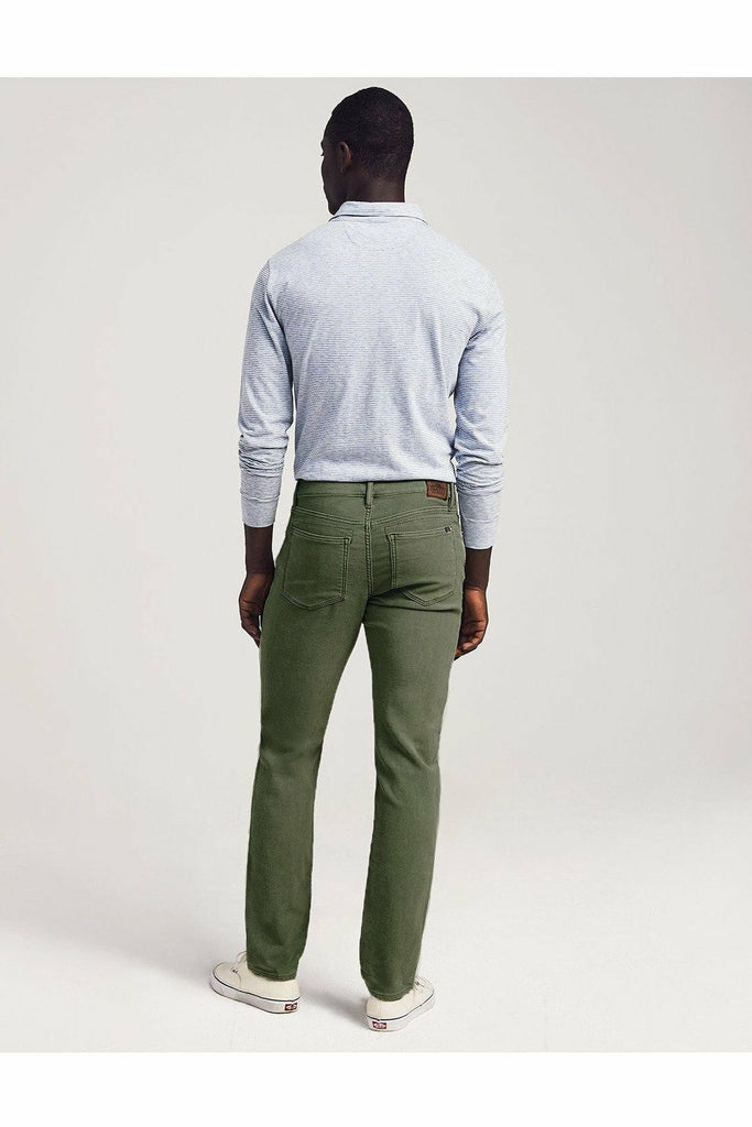 Faherty Faherty - Stretch Terry 5-Pocket - Olive Light Gray