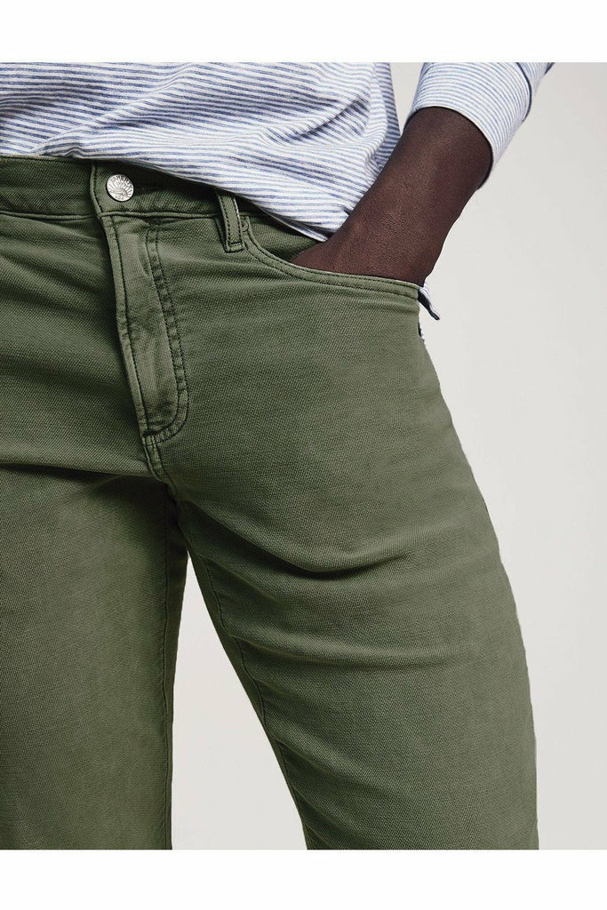 Faherty Faherty - Stretch Terry 5-Pocket - Olive Dark Olive Green